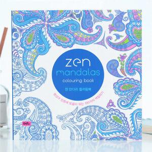 120 Pages Korean Mandalas Flower Coloring Book for kids Adult Graffiti Dra*wk