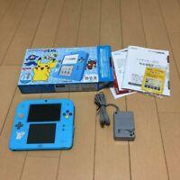 Sun Moon Pokemon Center Special Edition Nintendo 2DS Light Blue Pikachu d383