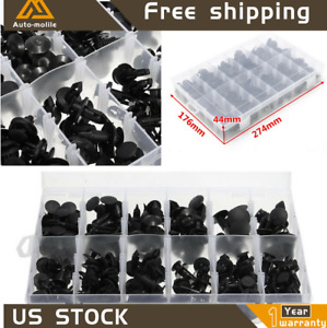 Fit For Toyota Honda GM Ford 192 Clips Push Pin Retainer Automotive Assortment