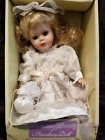 "Victorian Beauty 8"" Porcelain Doll NIB  Vintage Collectible Doll  Hand painted"