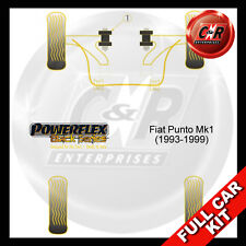 Fiat Punto MK1 (93-99) Powerflex Black Complete Bush Kit