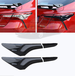 Fit For Toyota Camry 2018-2020 2021 Black ABS Rear Tail Light Lamp Cover Trim 4X