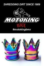 MOTOKING BMX CROWN SCHRADER VALVE CAPS - PAIR JET FUEL
