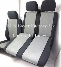 VW TRANSPORTER T5  VAN SEAT COVERS  GREY VELOUR  TAILORED P30GY
