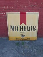 (VTG) Michelob Beer 4ftx4ft Double Bubble Outdoor Light Up Plastic Rare Sign