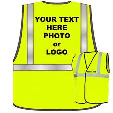 Personalised Kids Hi Vis Viz Safety Vest Waistcoat Child Logo Text Photo Print