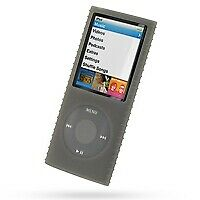 Super Grip Silicone Skin Case for 4th Generation iPod Nano (Smoke)