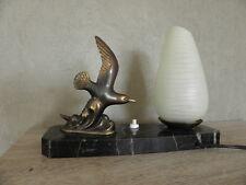 Lampe de table Figurine Oiseaux vintage french marbre Art Deco Lampe Licht Bauhaus Vintage