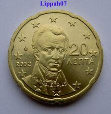 Griekenland / Greece 20 cent 2002 met letter E UNC