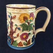 More details for h j wood hand painted indian tree design tankard - staffordshire - drinking mug!