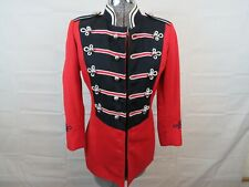 VTG Red Ostwald Band Uniform Jacket Coat Uniform Military Ringmaster Steampunk S