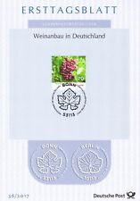 FRG 2017: Wine growing in Germany! First day sheet of no. 3334! 1710