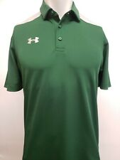 New Under Armour Men's HeatGear Two-Toned Polo, Green/Gray, M, XL