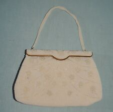 1950's Delill White Beaded Evening Purse = France