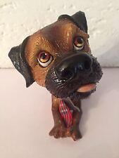 Hund Strolchi, Porzellan Figur, Dunkelbraun, Arora Design (Original)