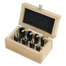 8 Piece Wood Plug / Drill Cutter Set in Wooden Case (Genuine Neilsen CT0488)