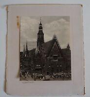 ALTES FOTO VON BRESLAU MIT MARKT -Wrocław POLAND POLEN KIRCHE CHURCH