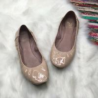 Vince Camuto Womens Ellen Patent Leather Ballet Flats US 9.5 B Nude Beige