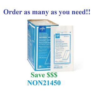 "NEW Medline NON21450 Abdominal ABD Sterile Pads 5""x9"" - Value packs!"