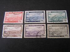 *ALGERIA, SCOTT # C1-C6(6),1946 AIR POST PLANE OVER HARBOR ISSUE USED