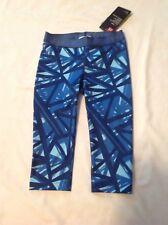 Girls Under Armour HeatGear Polyester Capri Leggings Pants Blue XSM NWT
