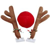 Auto Deko Rentier Kostüm Weihnachten Elch Geweih Nase für Auto Rentierkostüm