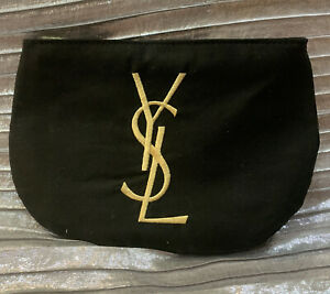 YSL ~Yves Saint Laurent~travel Pouch W Gold Initials Engraved- Sassy-New!