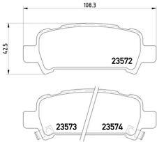 MDB1999 Rear Brake Pads Fits Akebono System With Acoustic Wear Warning By Mintex