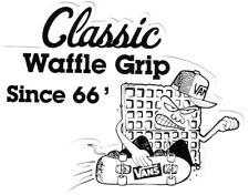 Vans Skateboard Sticker Classic Waffle Grip Since 66 Schwarz Weiß 10,5x8cm