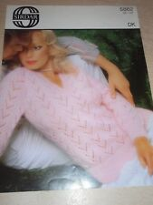 "Vintage Sirdar DK Knitting pattern Lady's Sweater 32-38"""