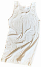 COMME des GARCONS SHIRT STRETCHY SLEEVELESS WHITE T-SHIRT TANK TOP SZ-S fitted