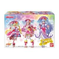 HUGtto ! PreCure Pretty Cure Figure 4 All 3 Special Set Candy Toy w/ Tracking