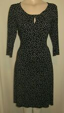 LADIES GORGEOUS BLACK WHITE SPOTTED PARTY DRESS SIZE 16 UK
