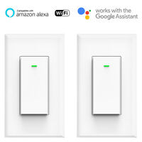 Smart WIFI Light Switch Remote Alexa Google Home Voice Control Smart Life 2pack