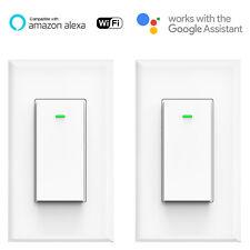 Smart WIFI Light Switch Remote Alexa Google Home Voice Control Smart Life 2pack