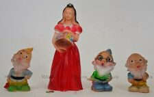 Biancaneve+3/7Sette Nani RUBBERTOYS  LEDRA squeaky old toy'60 creature gomma-1EC