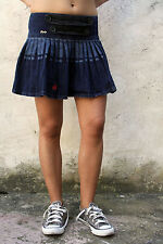 REPLAY Jeans Wash Dark Blue Sexy Mini Skirt Denim Stretch W28 UK10 VINTAGE SuPER