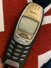 Vintage Nokia Phone Mobile With Charger Black And Gold 6310i And Case