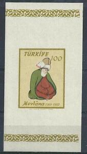 Turkey 1957 Sc# 1263 Melvana Persian Mevlevie dervish order miniature sheet MNH