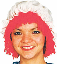 Morris Costume Women's Tv & Movie Raggedy Ann White Wig With Hat One Size. 12109