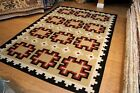 6X9 Ft. NAVAJO DESIGN 100% WOOL HANDMADE HAND KNOTTED SOUTHWESTERN STYLE KILIM