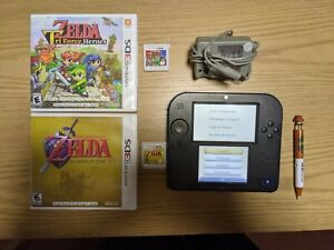 Nintendo 2DS Launch Edition Blue and Black Handheld System with 2 Zelda games
