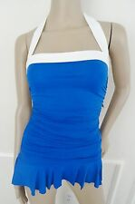 Nwt Lauren Ralph Lauren Halter 1 PC One Piece Swimsuit Swimdress Sz 10 Blue $119