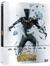 BLACK PANTHER - EDIZIONE STEELBOOK (2 BLU-RAY 3D + 2D) FILM MARVEL STUDIOS