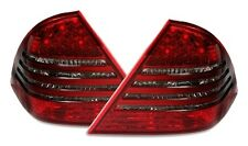 FEUX ARRIERE LED MERCEDES CLASSE C W203 05/2000-03/2004 NOIR ROUGE CRISTAL