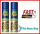 2 X 200ml Household Flea Killer Spray for Home Pet Dog Cat Tick Protection
