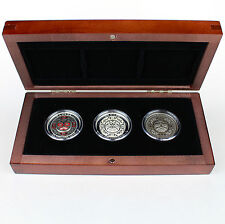 Canada 2015 $5 Singing Moon Mask Ultra-High Relief 3-Coin Set 99.99% Pure Silver