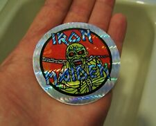 dc40fca2f582a NOS Vintage 1983 IRON MAIDEN PIECE OF MIND Eddie Prism Vending Machine  Sticker