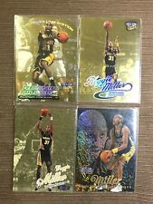 '98-'00 Ultra Fleer Gold medallion and Flair Row 1 Lot  Reggie Miller (4 Cards)
