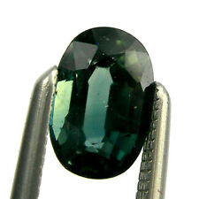 0.75 carat 6x4mm Oval Green Natural Australian Fancy Parti Sapphire Loose, OPS19